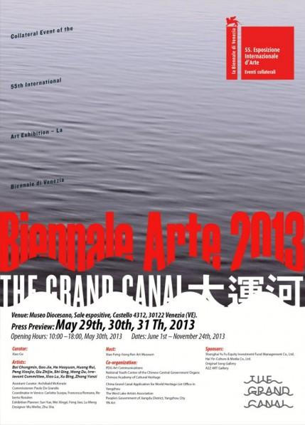 The Grand Canal Collateral Event of the 55th International Art Exhibition – La Biennale di Venezia opens June 1st