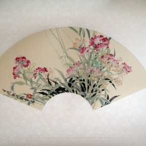 """Xie Qing """"Autumn Day"""" fan 290x290 - Yue Jieqiong: Elegantly Blooming – """"The Ladylike"""" of the Works by Xie Qing"""