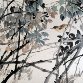 """Xie Qing """"Autumn Mood"""" 68 x 45 cm 290x290 - Yue Jieqiong: Elegantly Blooming – """"The Ladylike"""" of the Works by Xie Qing"""