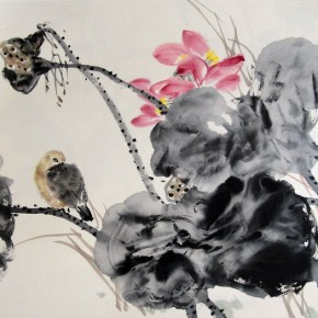 """Xie Qing """"Cold Perfume"""" 69 x 45 cm 290x290 - Yue Jieqiong: Elegantly Blooming – """"The Ladylike"""" of the Works by Xie Qing"""