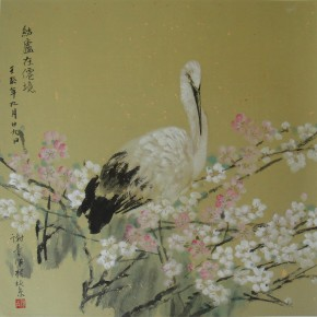 """Xie Qing """"Home in the Wonderland"""" 68 x 68 cm 290x290 - Yue Jieqiong: Elegantly Blooming – """"The Ladylike"""" of the Works by Xie Qing"""