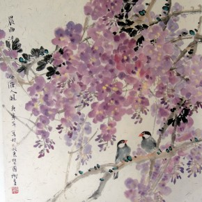 """Xie Qing """"Morning Melody"""" 68 x 68 cm 290x290 - Yue Jieqiong: Elegantly Blooming – """"The Ladylike"""" of the Works by Xie Qing"""