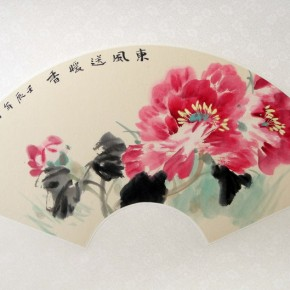 "Xie Qing, ""Winter Wind Blowing Warm Perfume"", fan"