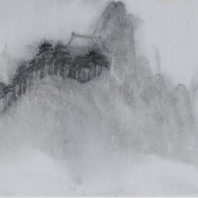 "Zhu Yamei, ""Clouds and Mountains Series No.1"", 69 x 34 cm, ink and wash on paper, 2012"