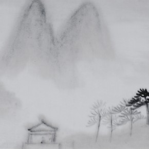 "Zhu Yamei ""Clouds and Mountains Series No.2"" 69 x 34 cm ink and wash on paper 2012  290x290 - Zhu Yamei"