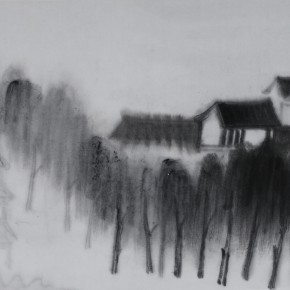 "Zhu Yamei, ""Jiangnan District"", 34 x 46 cm, ink and wash on paper, 2012"