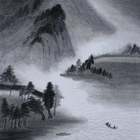 "Zhu Yamei, ""Memory of Jiangnan District No. 1"", 180 x 97 cm, ink and wash on paper, 2012"