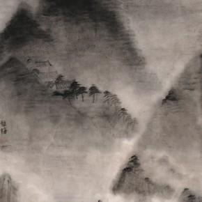 "Zhu Yamei, ""Searching for the Quiet Series No.3"", 236 x 123 cm, ink and wash on paper, 2010"