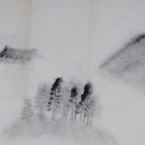 "Zhu Yamei, ""The Fog No.2"", 46 x 34 cm, ink and wash on paper, 2012"