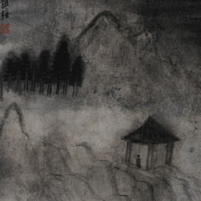 "Zhu Yamei, ""Twilight"", 34 x 46 cm, ink and wash on paper, 2012"