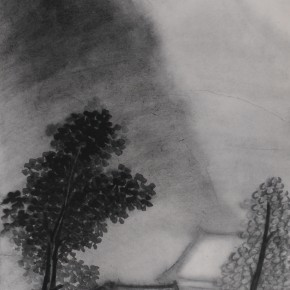 "Zhu Yamei, ""Voiceless Series No.2"", 34 x 138 cm, ink and wash on paper, 2011"