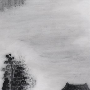 "Zhu Yamei, ""Voiceless Series No.5"", 34 x 138 cm, ink and wash on paper, 2011"