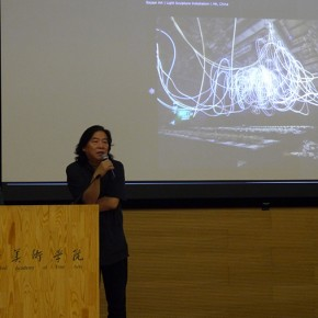 01 Prof. Zhang Guolong introduced Grimanesa Amorós to the audience 290x290 - Peruvian Artist Grimanesa Amoros Talked About Her Art Career During Her World Tour at CAFA