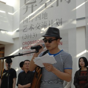 03 Li Binyuan spoke in the opening ceremony  290x290 - Crossroads · Another Dimension: A Cross-Strait Four-Regions Artistic Exchange Project 2013