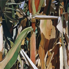 "09 Liu Liping, ""Green Corn"", oil painting"