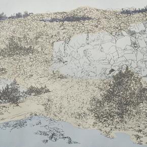 """12 Liu Liping """"Rockery and Sand Beach"""" print  290x290 - Liu Liping"""
