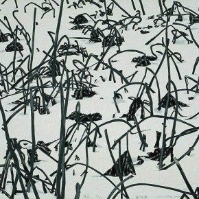 "16 Liu Liping, ""Traces of Lotus"", serigraph, 56 x 73 cm, 2001"