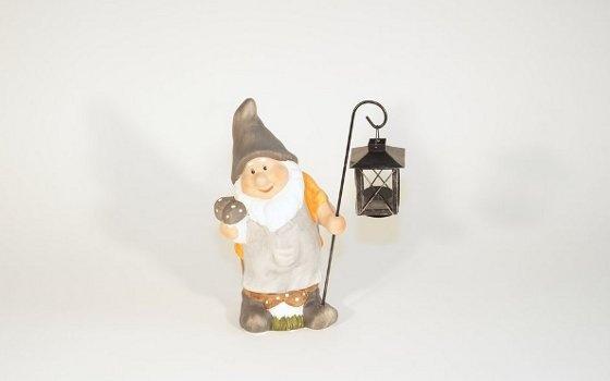 Garden Gnome, 27x32cm, Terracotta&Metal, 2013
