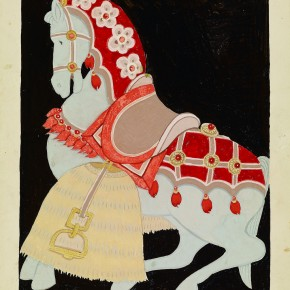 Pang Xunqin Horse with Harness 1939 Graphic Design on Paper 27cm×21cm Collection Pang Xunqin Museum of Art 290x290 - The Song of Jue Lan: A Retrospective Exhibition of Pang Xunqin's Work opens at Zhejiang Art Museum