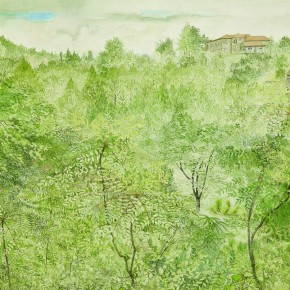 Pang Xunqin Landscape of Lu Mountain 1947 Watercolor on Paper 53.2cm×67.5cm Collection Pang Xunqin Museum of Art 290x290 - The Song of Jue Lan: A Retrospective Exhibition of Pang Xunqin's Work opens at Zhejiang Art Museum