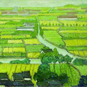 Pang Xunqin Riverside Town of Jiangnan 1983 Oil on Canvas 51cm×62cm Collection Pang Xunqin Museum of Art 290x290 - The Song of Jue Lan: A Retrospective Exhibition of Pang Xunqin's Work opens at Zhejiang Art Museum