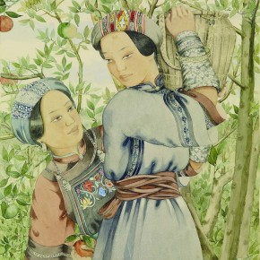 Pang Xunqin Season When Organges are Ripe 1942 Watercolor on Paper 43cm×35cm Collection Pang Xunqin Museum of Art 290x290 - The Song of Jue Lan: A Retrospective Exhibition of Pang Xunqin's Work opens at Zhejiang Art Museum