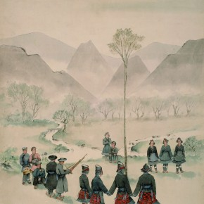 Pang Xunqin Skipping Flowers 1944 Watercolor on Paper 66cm×45cm Collection Pang Xunqin Museum of Art 290x290 - The Song of Jue Lan: A Retrospective Exhibition of Pang Xunqin's Work opens at Zhejiang Art Museum