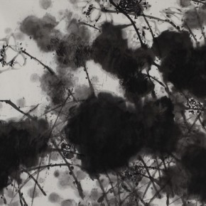 "Wang Huangsheng ""Ink Lotus No.1"" ink and wash on paper 360 x 145 cm 2008 290x290 - Boundless: Wang Huangsheng's Works (2009-2013) Inaugurated at Hubei Museum of Art"