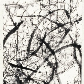 "Wang Huangsheng, ""Line 6"", ink and wash on paper, 35 x 140 cm, 2010"