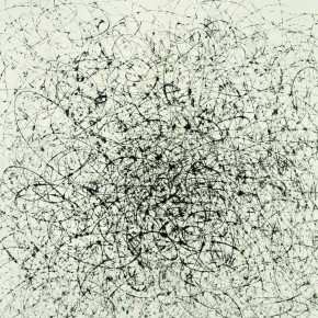 "Wang Huangsheng, ""Losgelöst No. 78"", ink and wash on paper, 70 x 70 cm, 2013"