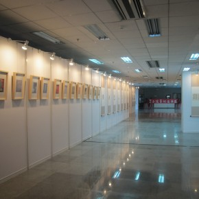 01 View of the exhibition by Feng Zikai