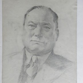 """01 Wei Qimei """"Chang Renxia's Portrait"""" 38 x 29.5 cm pencil on paper 1956 290x290 - """"Wei Qimei and Basic Teaching"""" Exhibition About to Held at CAFA Art Museum"""