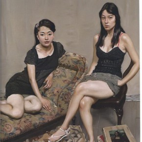 "02 Chen Danqing """"Student of Chinese Academy of Oil Painting and Professional Model No.3"" oil on canvas 138 x 92 cm 2010 290x290 - Face 2 Face Portraits and Interiors Chinese – Dutch Painting Exhibition opened at the He Xiangning Art Museum"