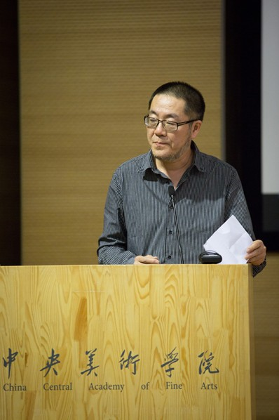 02 Wang Huangsheng introduced David Elliott to the audience at CAFAM