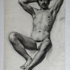 """02 Wei Qimei """"Big Laowang"""" 44.5 x 31 cm charcoal on paper 1983 290x290 - """"Wei Qimei and Basic Teaching"""" Exhibition About to Held at CAFA Art Museum"""