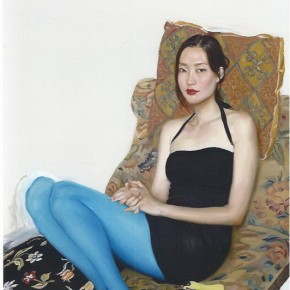 "03 Chen Danqing ""Stockings and Party Standing"" oil on canvas 138 x 92 cm 2009 290x290 - Face 2 Face Portraits and Interiors Chinese – Dutch Painting Exhibition opened at the He Xiangning Art Museum"
