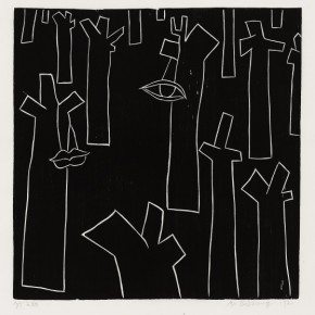 03 Ma Desheng Untitled 3 1980 Woodblock print on Chinese paper69.7x60.3cm 290x290 - Ma Desheng: Selected Works 1978-2013 at the London Gallery of Rossi & Rossi