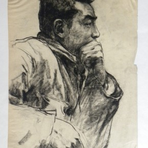 """03 Wei Qimei """"Husheng's Portrait"""" 38.5 x 28.5 cm charcoal on paper 1978 290x290 - """"Wei Qimei and Basic Teaching"""" Exhibition About to Held at CAFA Art Museum"""