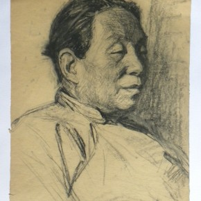 """05 Wei Qimei """"Mother's Portrait"""" 39.5 x 27.5 cm charcoal on paper 1958 290x290 - """"Wei Qimei and Basic Teaching"""" Exhibition About to Held at CAFA Art Museum"""