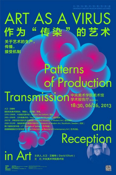 06 Art as a Virus – Patterns of Production, Transmission and Reception in Art, a Lecture by David Elliott Held at CAFAM