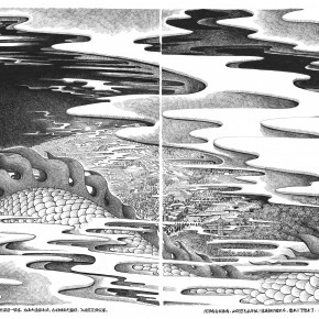 "07 Wu Lin ""Tiny World ·Dragon's Pharmacy No.1"" etching 290x290 - ""Mutual Affinity""–  Postgraduates of Xu Bing Showcase Their Works in Taiwan"