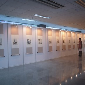 10 View of the exhibition by Feng Zikai