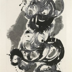 23 Ma Desheng Abstract 3 1987 Ink on Chinese paper 154x84cm 290x290 - Ma Desheng: Selected Works 1978-2013 at the London Gallery of Rossi & Rossi