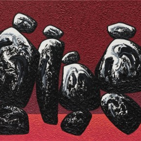 33 Ma Desheng Rocks 1 2012 Acrylic on canvas 150x200cm 290x290 - Ma Desheng: Selected Works 1978-2013 at the London Gallery of Rossi & Rossi