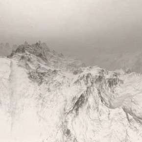 """35 Shi Zhengyi """"Landscape Different Song in a Virtual Room – Mountain Series"""" print 100 x 180 cm 2013 National Art Museum of China 290x290 - 2013 Exhibition for the Nominated Students from the Art Academy Unveiled at the Today Art Museum"""