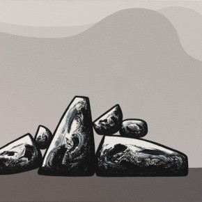37 Ma Desheng Rocks 5 2007 Acrylic on canvas 150X200cm 290x290 - Ma Desheng: Selected Works 1978-2013 at the London Gallery of Rossi & Rossi