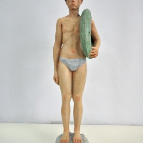 """53 Hou XiaofeiGuangxi Arts Institute """"A Man at the Beach"""" 20 x 20 x 70 cm sculpture 2012 290x290 - 2013 Exhibition for the Nominated Students from the Art Academy Unveiled at the Today Art Museum"""