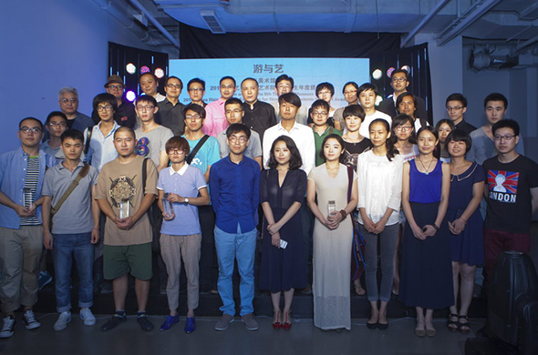 Group photo of artists and guests