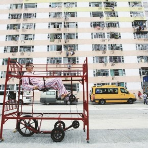 Hong Kong Sleepwalker by Kacey Wong 2011 Bund bed and tricycle 192x80x190cm 290x290 - 'Crossroads‧Another Dimension – A Cross-Strait Four-Regions Artistic Exchange Project 2013' tours to Macao