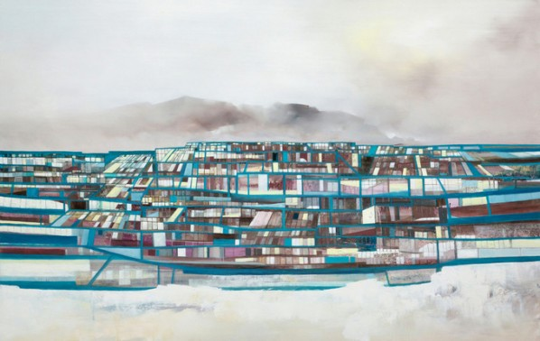 SimCity No. 50 by Sim CHAN, Oil on canvas, 90 x 140cm, 2013